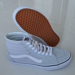 VANS SK8-HI GRAY DAWN WHITE SNEAKER SHOES CANVAS